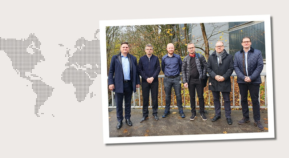 2. Germany Customer visit by BE Group employees in Siegen on November 18/19, 2019. From the left: Thorsten Bösch, Dr. Juri Rosen, Kevin Kroh, Jarkko Mantila, Olof Berghell and Tom Lönnröth