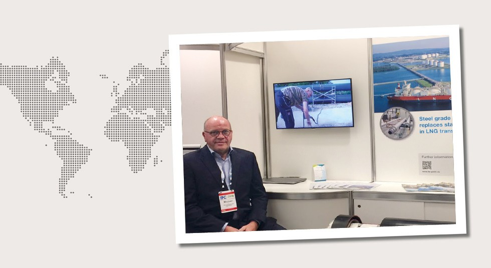 6. Canada Michael Bick at our trade fair stand at the International Pipeline Exposition (IPE) in Calgary in September 2018.